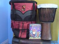 djembi african drum and carry case