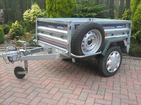 Daxara 158 trailer,jockey wheel,spare wheel and new flat cover.