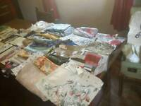 Vintage off cuts material & paterns