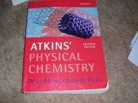 Atkins Physical Chemistry Seventh Edition 2002 Large Paperback