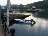 16 ft fletcher speedboat on trailer with 80 hp yamaha