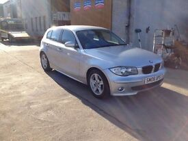 06 bmw 116 1.6 sport 5dr 60800miles in silver £3995