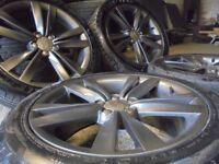 17inch genuine seat fr ibiza ALLOY wheels audi golf vw mk4 a3 tt beetle 5x100 subaru