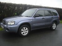 subaru forester xln four wheel drive manual one owner full leather seat new mot