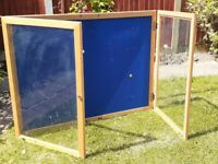 Nobo Notice Board or Display Case