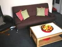 Brown sofa bed, very good condition