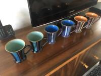 Set of 6 Denby Gatsby Mugs