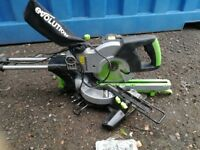 Evolution FURY3-S Multi-Purpose Sliding Mitre Saw, 210 mm (230V) (like news)