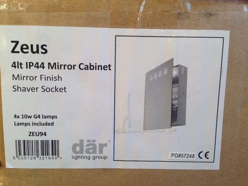 Bathroom Mirror Gumtree bathroom mirror cabinet with light and shaver socket | in