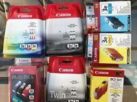 Canon Ink-Jet Printer cartridges - unused/new.