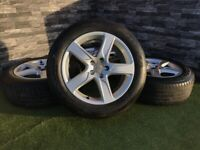 "18"" Genuine A6 Audi Q5 Allroad Alloy Wheels A4 A6 Alloy Wheel Tyre Seat VW Volkswagen"
