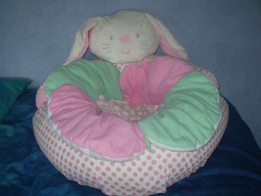 MOTHERCARE Bunny Rabbit Inflatable Sit Me Up Cosy Baby Playnest