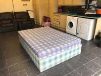 Good Condition Double Divan Bed Base + Mattress Delivery Possible