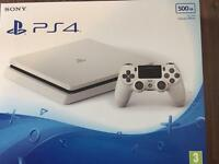 Sony PS4 Glacier White 500GB brand new RRP£229.99