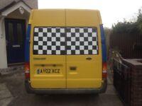 Transit van semi high top 12 months been made in to a camper van mot low miles swop or cash
