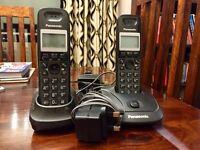 Pair of Panasonic wireless telephones.