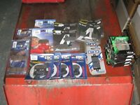 Job lot of 19 brand new motorcycle disc pads and brake shoes.