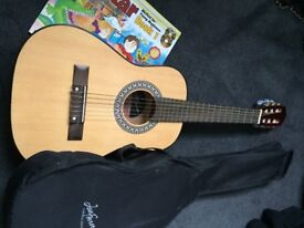 Guitar and book for child