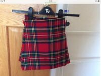 Childs kilt and gillie shirt age 2-4 approx