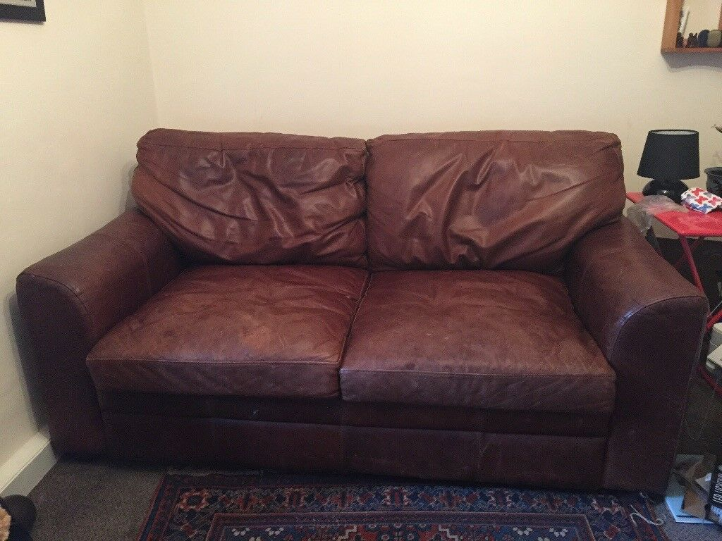 Surprising Sold Now Brown Leather John Lewis Cowhide Sofa Cheap For Quick Sale In Dorking Surrey Gumtree Bralicious Painted Fabric Chair Ideas Braliciousco