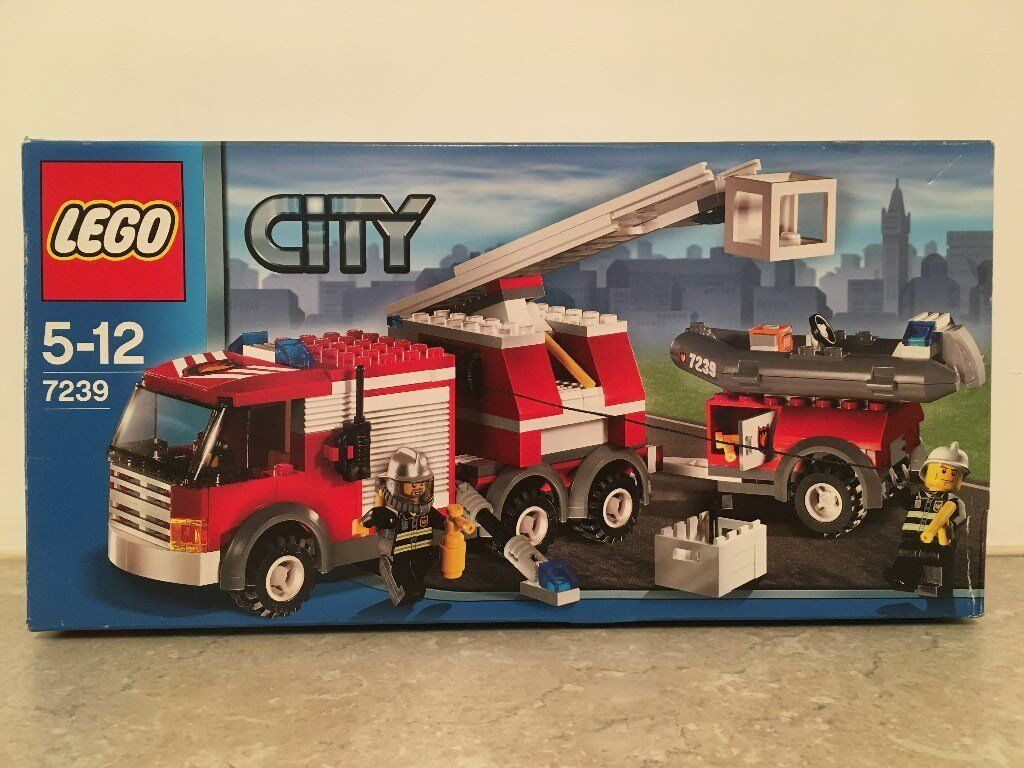 Lego City 7239 Fire Truck Collect From Llangennech In