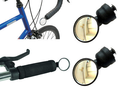 5209c27645e 2-Pack Road / Mountain Bike Bar End Mirror / Racing Adjustable Angle Mirror