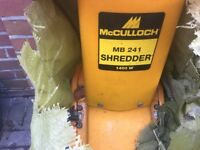 McCulloch MB241 1400w shredder