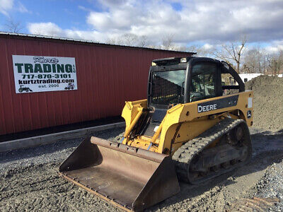 2007 John Deere Ct322 Compact Track Skid Steer Loader W Cab Only 2200 Hours