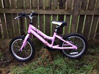 Ridgeback melody quality girls 16 inch mountain bike with optional stabilisers