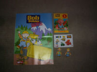 bob the builder figures books poster stickers the lot for £1.00