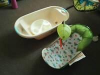 Infant baby bather