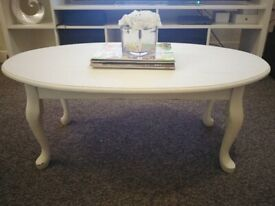 White used coffee table