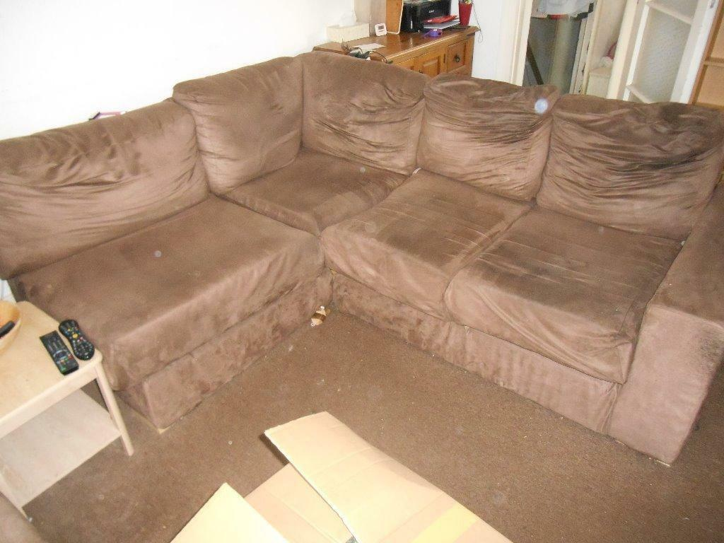 Brown Suede Corner Sofa Bed With Buy Sale And Trade Ads
