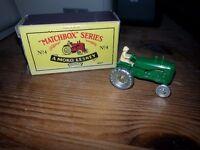 Moko Lesney Matchbox No. 4 Green Tractor model