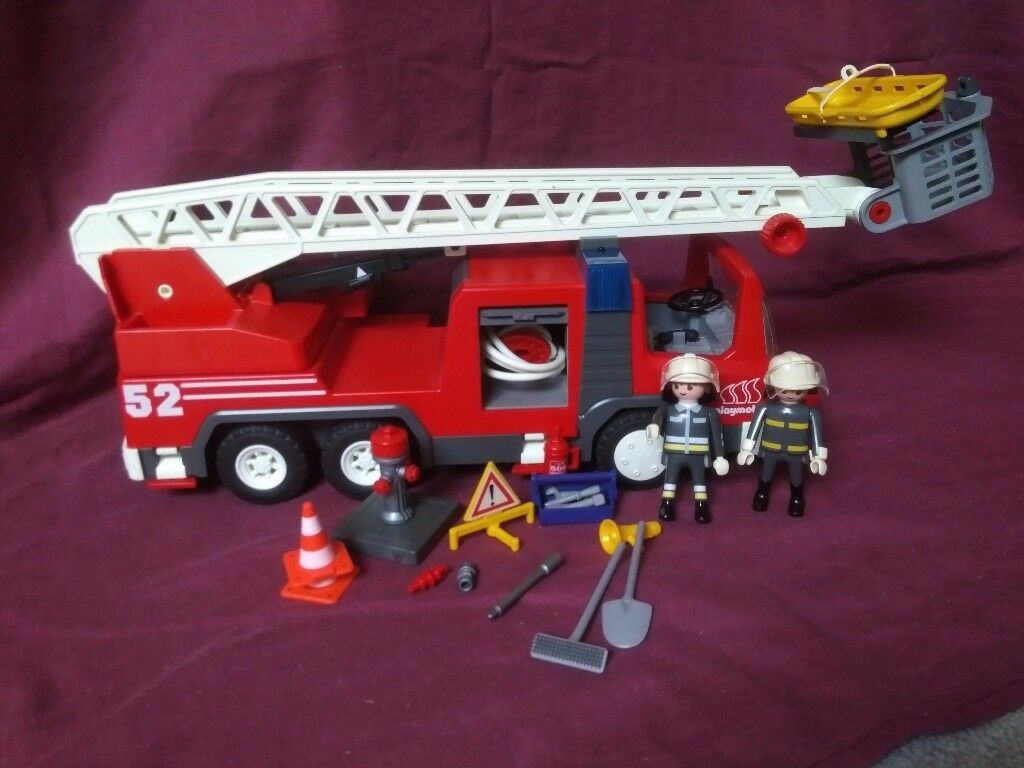 Playmobil Fire Engine with extra figures and equipment