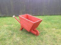 Red Wheelbarrow Planter
