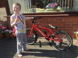 Brand new red X-RATED BMX bike with stunt pegs