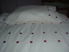 single duvet set with duvet and pillow