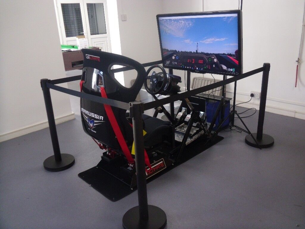 Virtual Reality Racing Motion Simulator I7 Gtx 1060 Pc Oculusvr T500