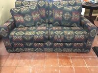 DFS 2 seater sofa in fabric pattern mint condition