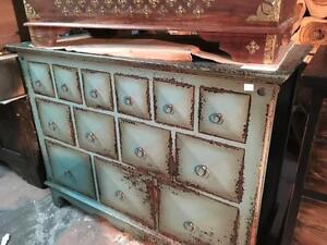 Commode 13 tiroirs en Bois de Teck Shabby Chic / Teak WoodChest with drawers Dresser *NEW from Indonesia
