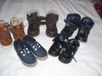 5 PAIRS ASSORTED KIDS TRAINERS/ BOOTS. SIZES 6.5/7/8 ADDIDAS/NEXT/MOTHERCARE/GEORGE/PRIMARK