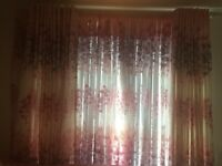 Gorgeous pink curtains