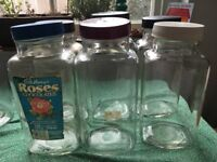 Sweet shop glass jars (vintage)