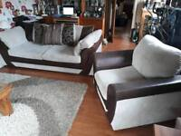 3 Seat Sofa & Armchair. Free local delivery.