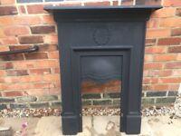 Fire surround Cast iron. Matt black
