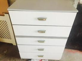 White colour wood chest cabinet good condition