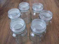 6 DOUWE EGBERTS COFFEE JARS