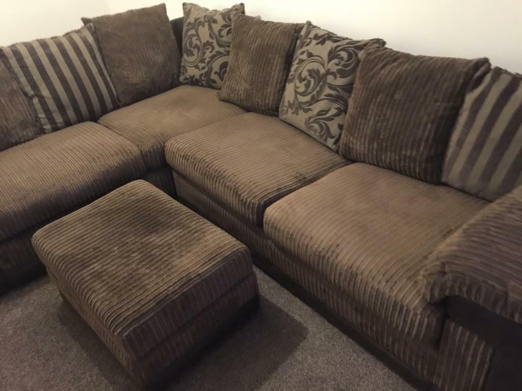 Brown Cushion Back Corner Sofa In Welwyn Hertfordshire