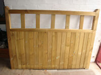 Unused Wooden Single Drive Gate